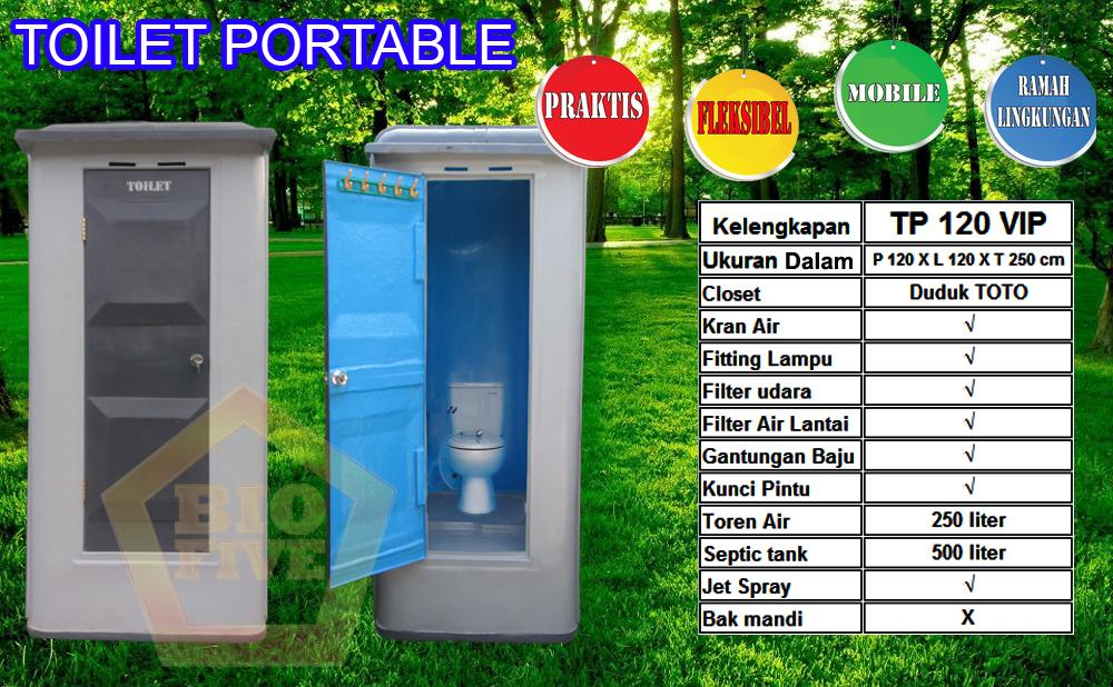 TOILET TP120 VIP, sewa toilet, jual toilet, portable toilet, toilet fiberglass