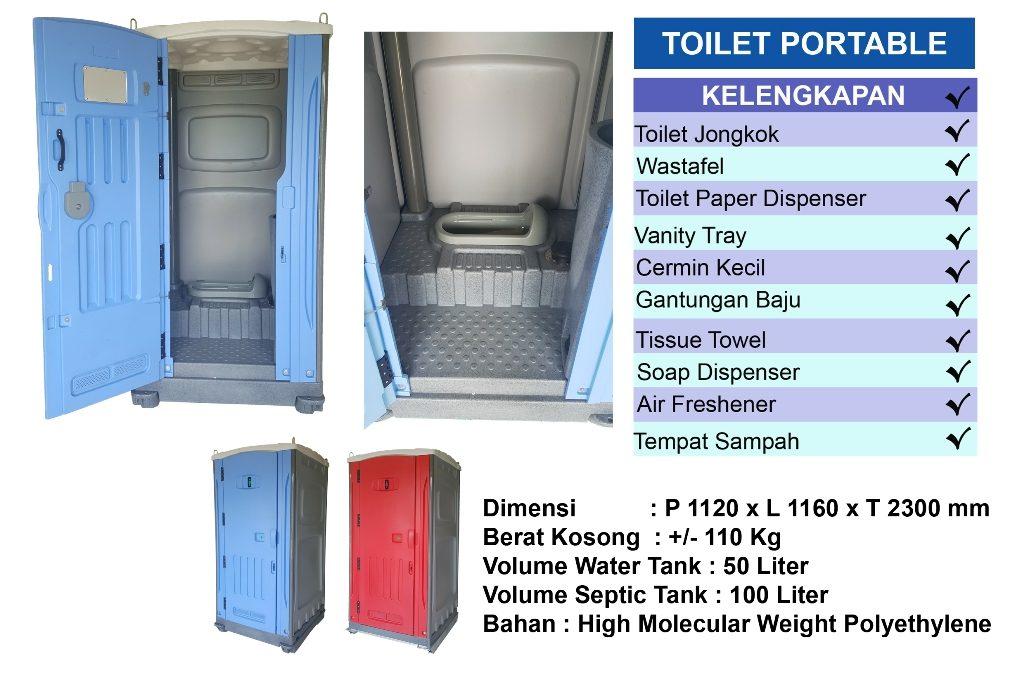 sewa toilet harian, vip standart toilet