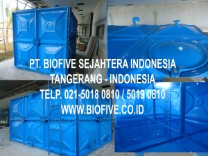 Tangki Panel, Tangki Air Panel Fiberglass, Pabrik Tangki Panel